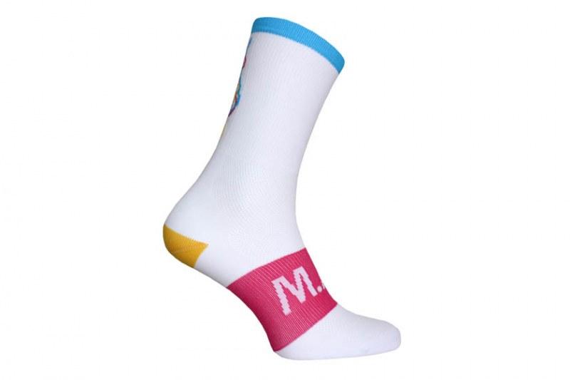 M.A.S. sokken - laserbeam wit