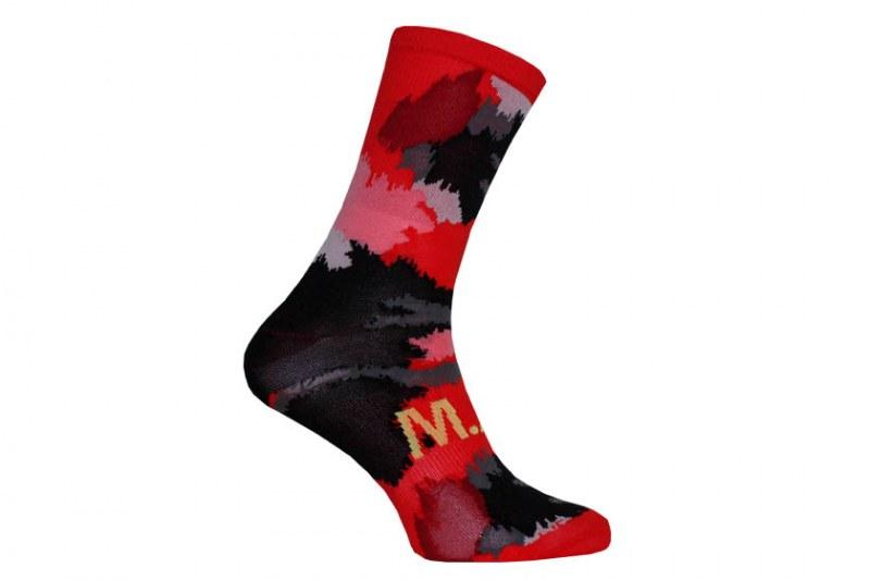 M.A.S sokken - spots zwart/rood