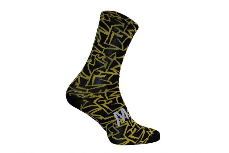 M.A.S sokken - street zwart/geel